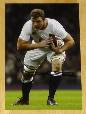 Joe Launchbury England Rugby Personally Hand Signed Autograph Photo