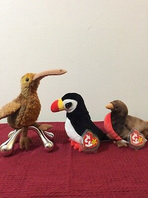 Ty Beanie Baby Puffer The  Bird 1997 -beak 1998-early 1997 retired toy- 03