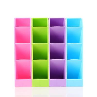 1X Plastic Holder Makeup Storage Tray Desk Organizer Desktop Office Pen Pencil··