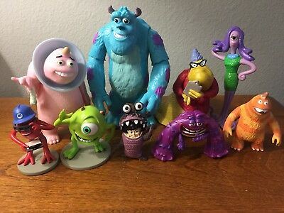 Disney Pixar Monster Inc. Lot Of Collectible Figure Cake Topper Preowned