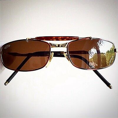 occhiali da sole CUSTOM sunglasses oval gold supreme brown vintage eagle rare