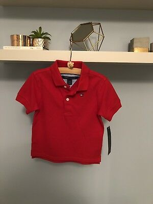 Age 12 Months Tommy Hilfiger Baby Boys Red Polo Shirt