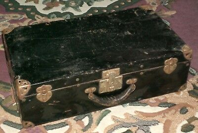 Vintage Metal Travel Suitcase