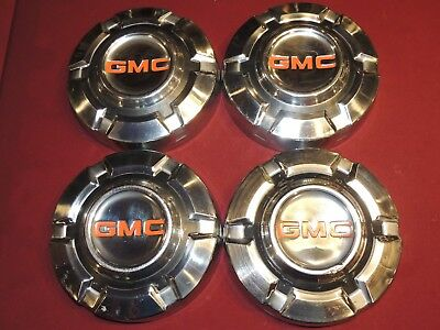 """4 Vintage Dog Dish Hubcaps For a GMC Truck/Pickup, 60's & 70's 10"""" Diameter"""