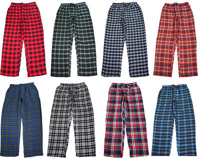 NORTY Mens Pajama Sleep Lounge Pant - 100% Brushed Cotton Flannel - 8 Prints
