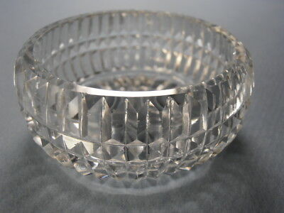"Beautiful Large ""Picket"" or Prism Style Cut Glass Open Salt Cellar HJ3136"