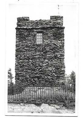 Mt. Mitchell, NC - Tower and Dr. Mitchell Grave  Real Photo  RPPC