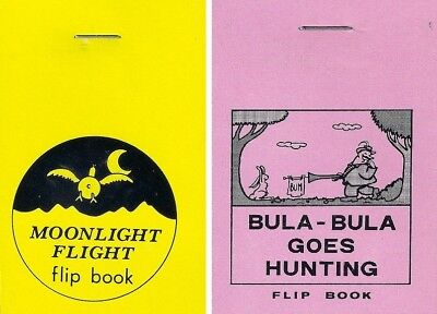 Animation Flip Books - Moonlight Flight / Bula - Bula Goes Hunting Set of Two