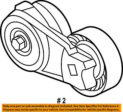 Ford Oem 14 16 F 150 Serpentine Fan Belt Tensioner Bl3z6a228b