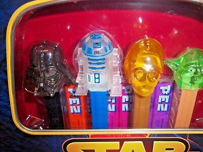 sealed limited edition set of 4 Star Wars PEZ (MIB) candy dispensers + FREE GIFT