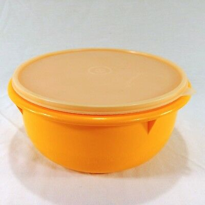 Tupperware Large Mixing Bowl Orange With Cover 272 280 Z
