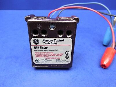 Ge Rr7 Latching Relays 21-30 Vac Class 2 Momentary