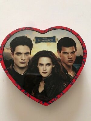 The Twilight Saga Breaking Dawn Valentine Heart Tin Box Bella Edward Jacob