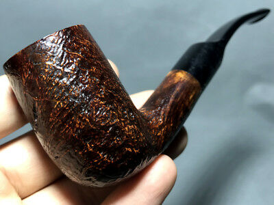 Road Town Tall Brandy Style Briar wood craft pipe-unsmoked