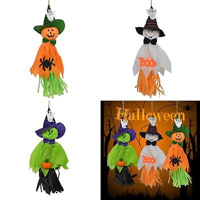 BL_ Cloth Hanging Ghost Pumpkin Halloween Decoration Spooky Home Party Decor Gif