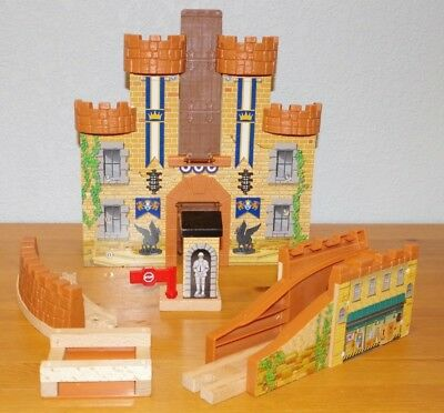 Thomas Friends Wooden Railway Train King Of The Railway Castle Set Partial