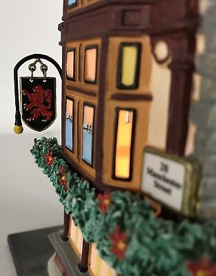 DEPT 56 THE RED LION PUB CHRISTMAS DICKENS' VILLAGE 58715 with Collector Pin