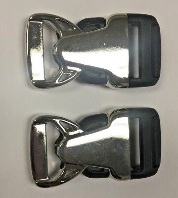 "2 sets- 3/4"" Rock Lockster Buckle in Shiny Chrome Finish Duraflex"