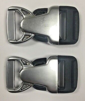 "2 sets- 3/4"" Rock Lockster Buckle in Standard Chrome Finish Duraflex"