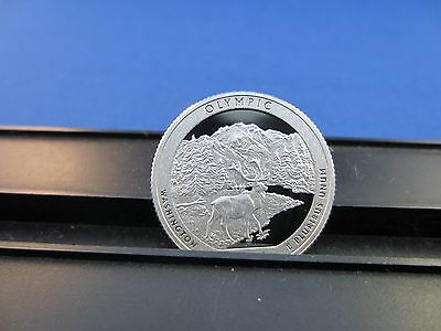 2011-S Silber Quarter Olympisch National Tief Cameo Spiegel Beweis Obere Reihe