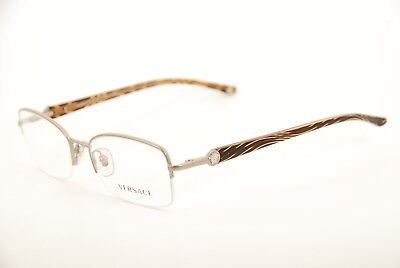 f330b3e129495 New Authentic Versace Mod.1193 1259 Beige Brown 51mm Frames Eyeglasses RX  Italy