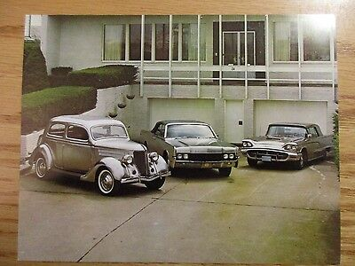 Lot of 4 Different Stainless Steel Cars Large Postcards  Excellent Condition