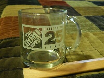 The Home Depot ~ Celebrating 25 Years {Etched Glass} Beverage MUG_CUP Ltd Promo