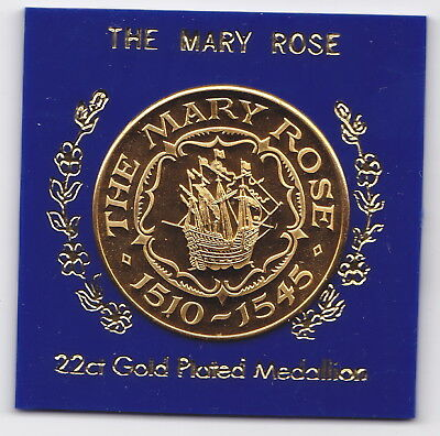 1510-1545 The Mary Rose 22ct Gold Plated Medallion