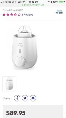 Philips AVENT Fast Bottle Ans Baby Food Warmer