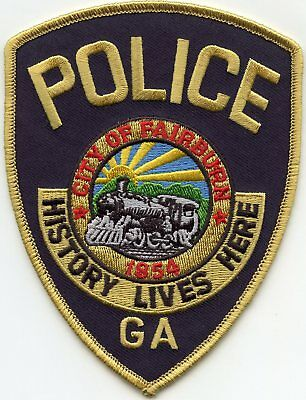 FAIRBURN GEORGIA GA History Lives Here TRAIN POLICE PATCH