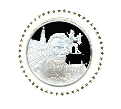 1976 State Of Illinois Franklin Mint Sterling Silver Bicentennial Medal w/FDC