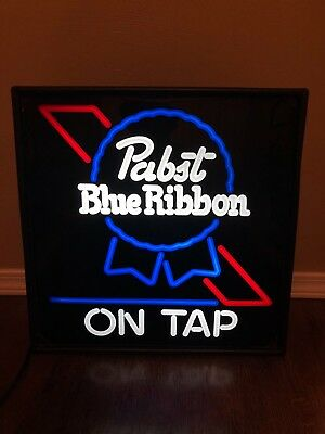 Pabst Blue Ribbon Neo Neon Lighted Sign NEW
