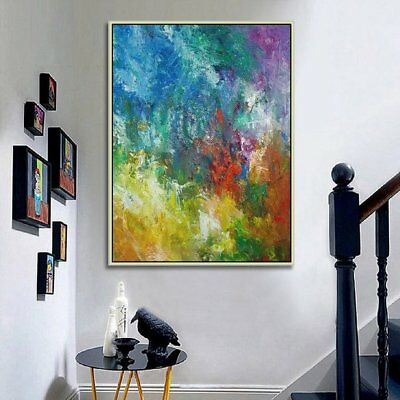 Modern Art Living Room Decor Hand Painted Abstract Colorful Oil Painting Canvas