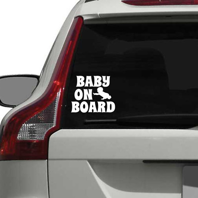 Baby On Board Sticker Car Window Decal