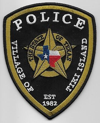 Tiki Island Police State of TEXAS TX Shoulder Patch