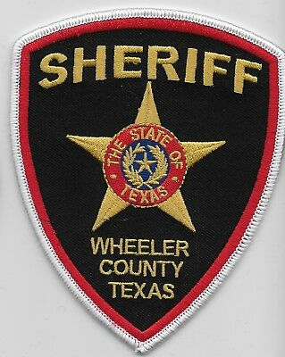 Wheeler County Sheriff State Texas TX patch