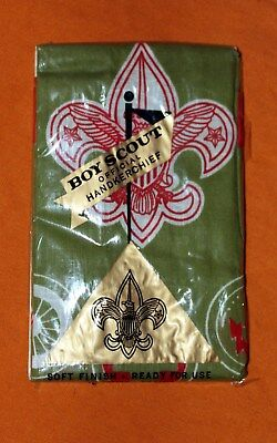 Vintage Boy Scout Official Handkerchief In Original Sealed Packaging