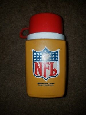 Vintage 1975 NFL King Seeley 8 oz.Plastic Lunchbox Thermos