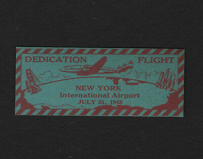 "OPC 1948 Dedication Flight NY International Airport 2 1/4"" Etiquette Label MNH"