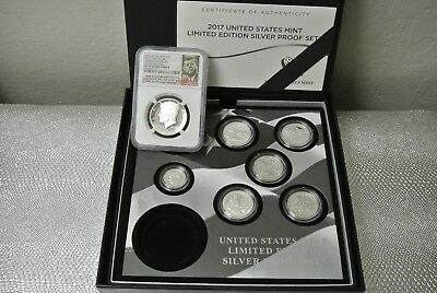 2017 S Us Mint Limited Edition Silver Proof Set W/ 50C Ngc Pf70  (Missing Eagle)