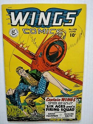 Wings Comics #106   1949  Headlights!  Nice Copy