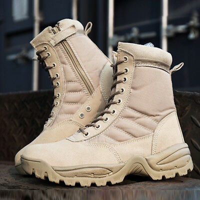 AU Breathable Security Patrol Military Desert Combat Boots Tactical Footwear