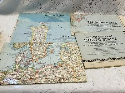 Lot of 24 Vintage National Geographic Maps 1941-1962