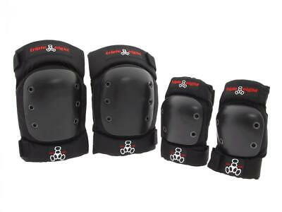 Triple Eight 888 Street Black Skateboard Knee & Elbow Pads