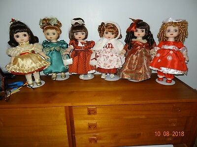 Lot of 6 Adora Belle Holiday Dolls 1999-2005, Marie Osmond Collectibles, LE, EUC
