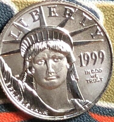 1999 1/10 Oz .9995 Platinum Eagle BU Uncirculated. Beautiful Coin!