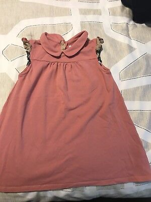 Authentic BURBERRY Check Toddler Girls Dress Pink Size 3Y/98cm