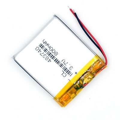 5Pcs 483740 3.7V 800 mAh Rechargeable Battery  Li-Polymer Li Po For GPS MP3 MP4