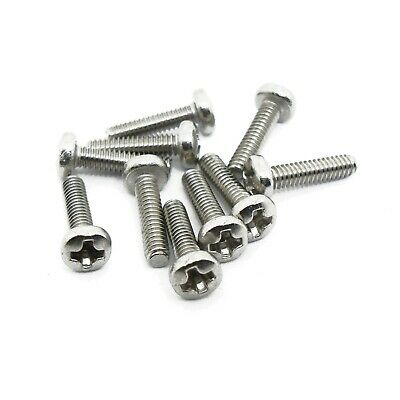 M2 x 8mm, Pan Head Phillips Machine Screw, A2 18-8 Stainless Steel, DIN 7985