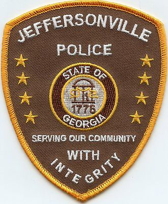 JEFFERSONVILLE GEORGIA GA Serving Our Community With Integrity POLICE PATCH